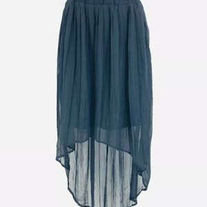 Xhliration Skirt Women Medium Black Sheer Lined Hi